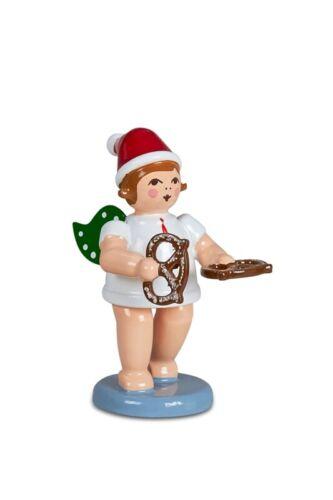 6 cm NEUF les Monts Métallifères va chercher Boulanger Ange Ange de Noël avec bretzel avec casquette Hauteur env