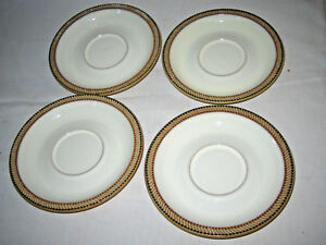 4 DENBY LUXOR Saucer Plates Excellent | eBay