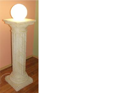 Design Säulenlampe Leuchten Leuchte Lampenschirm Dekolampe Säule Lampe 6854 Neu