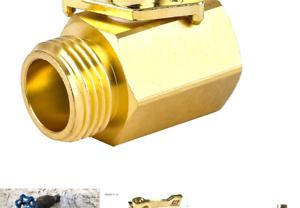HQMPC Heavy Duty Brass Shut Off Valve Garden Hose On Water...