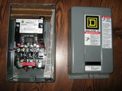 Square D magnetic starter//size 0//460 volt coil//new in the box//reduced price