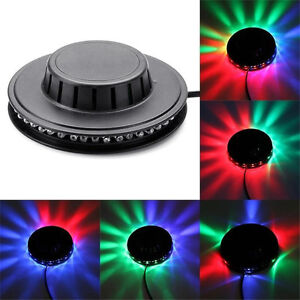 UFO Sunflower Voice-activated Rotating 48 LEDs RGB Stage Light for Disco DJ Bar