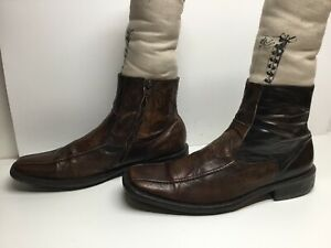 vtg mens aldo short casual brown boots size 44  ebay