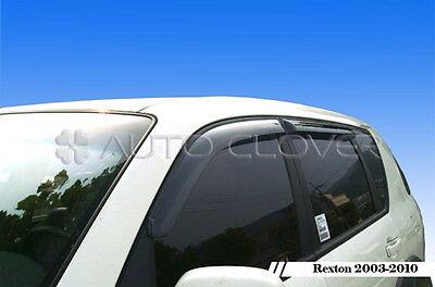 Chrome Window Visor Vent 4p For 2012 2013 Ssangyong Korando Sports