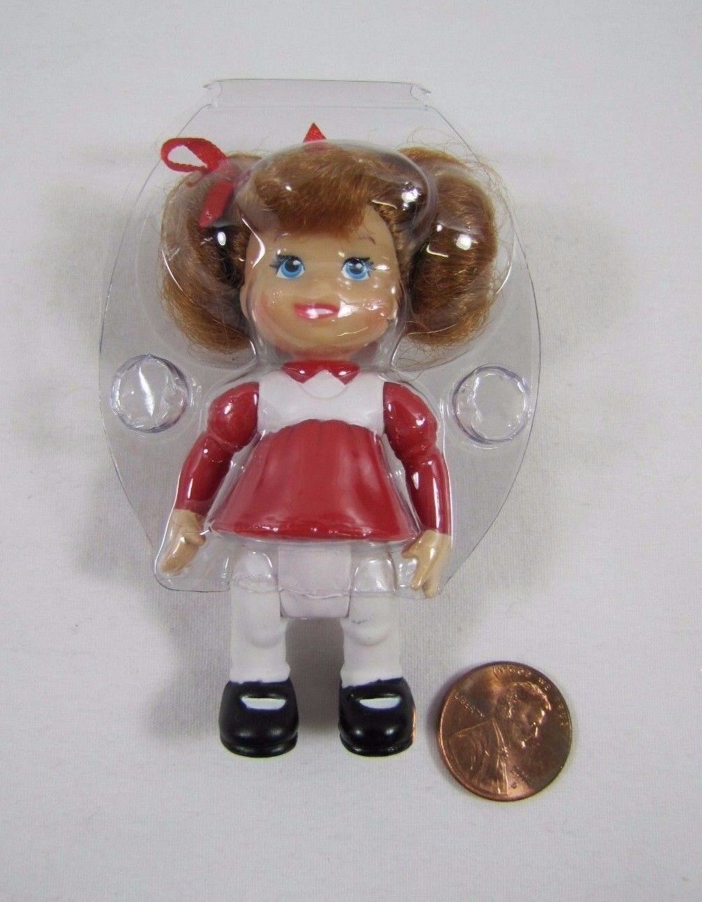 New FISHER PRICE Loving Family Dollhouse CHRISTMAS TODDLER GIRL Red-Head Pigtail