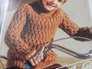 3321523eaae Details about Knitting Pattern Baby Girl Boy Polo Neck Jumper 26-34