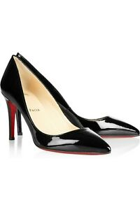 more photos 5ee55 c2046 Details about Christian Louboutin Patent Pigalle 85mm- Black size 41
