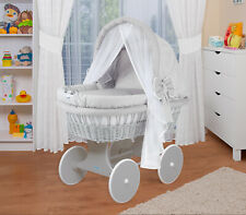 complete with Accessories XXL Fabrics White// Waldin Baby Toy Wagon Bassinet