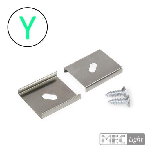 "10/"" 2 Pièces Support Y 2x Supports//métal-Support pour ALU-Profil /""Surface"