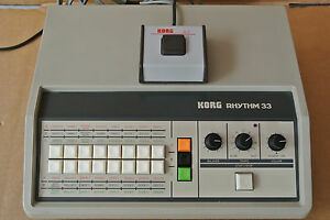 1979 KORG KR-33 KR RHYTHM 33 ANALOG DRUM MACHINE BEAT BOX S-1 FOOT SWITCH A159 - Fort Myers, Florida, United States - 1979 KORG KR-33 KR RHYTHM 33 ANALOG DRUM MACHINE BEAT BOX S-1 FOOT SWITCH A159 - Fort Myers, Florida, United States