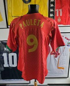 Jersey maillot maglia camisa shirt vintage portugal figo ronaldo 2004 pauleta L
