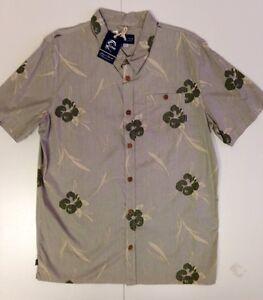 Oneill-Mens-S-S-Button-Up-Shirt-Sea-Salt-ARM-XL-NWT-Reg-80
