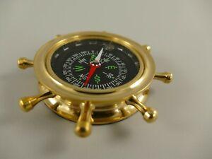9977524 Nostalgia Compass Polished Brass D9cm