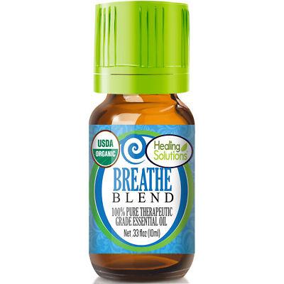 Organic Breathe Essential Oil Blend (100% Pure - USDA Certified Organic)