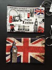 2 X Londra Inghilterra UK Moneta Portamonete Portafoglio Souvenir Regalo