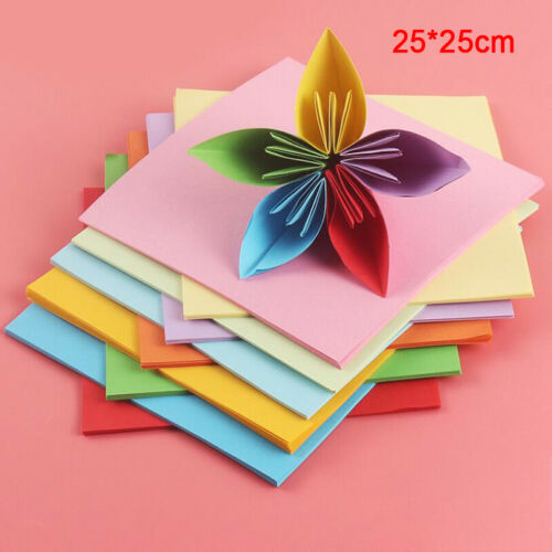 100 X 10 Colors Origami Paper Double Sided Colorful Folding DIY Paper Arts Cr Dq
