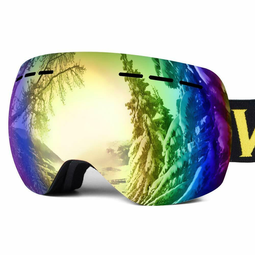 Snowboard Snow Goggles Dual Layers Anti-Fog Lens UV400  Predection Over The Glass  outlet sale