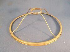 Vintage Brass Oil Lamp under the Burner Shade Ring 1&7/8in Burner Open c1890s