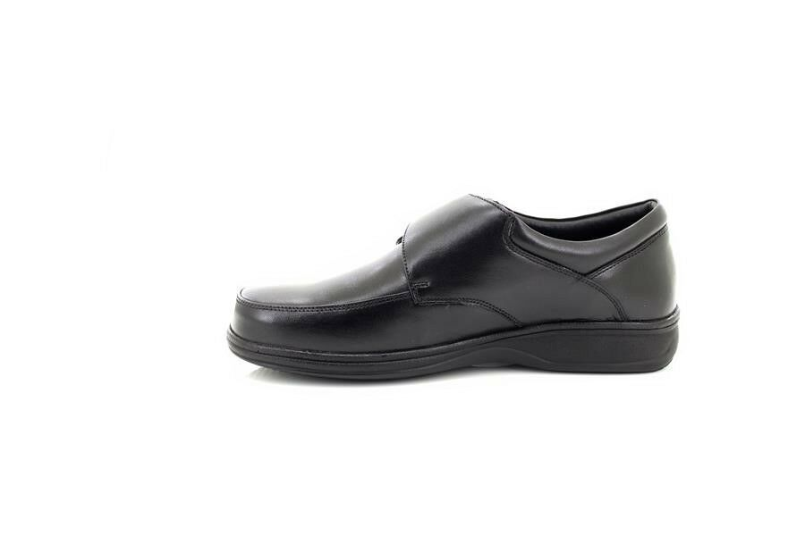 Roamers M723  Uomo Leder Everyday Lightweight Touch Fastening Casual Everyday Leder Schuhes Blac d31a2f