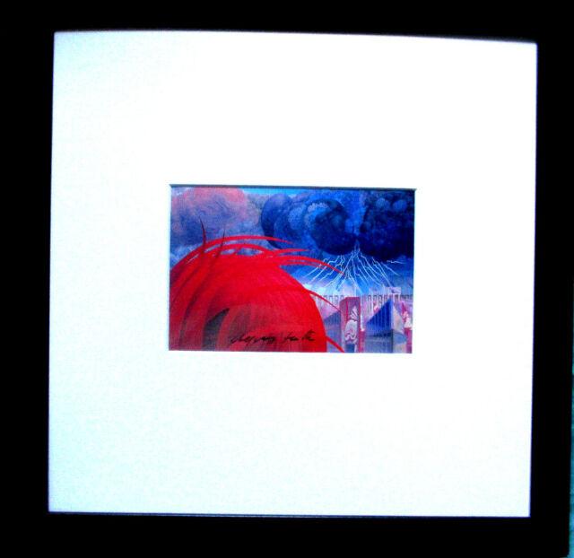 WOLFGANG HUTTER >Ein Gewitter< HAND-SIGNIERT,mit Rahmen, orig.signed