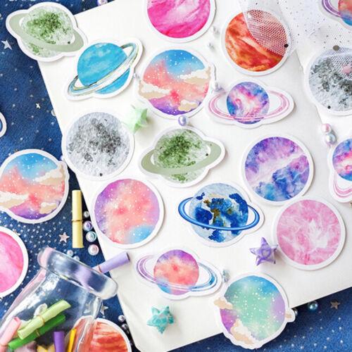 45Pcs//box beautiful planet stickers scrapbooking diary DIY notebook decor Pip Hu