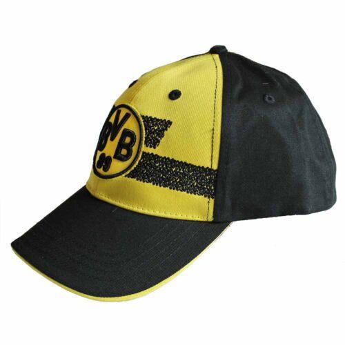 BVB Kappe BVB Logo Streifen schwarz gelb Borussia Dortmund Cap Mütze