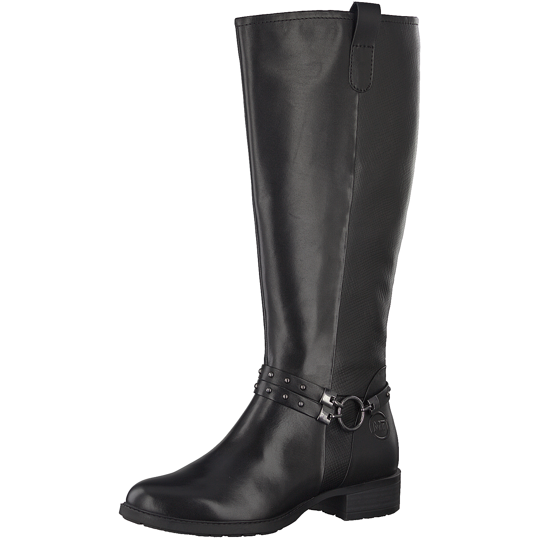 Damen Stiefel schwarz Größe 37 Echtes 38 39 Marco Tozzi 25615 Echtes 37 Leder Lang 9478ac
