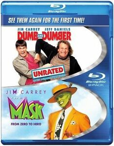 Blu-Ray-THE-MASK-and-DUMB-amp-DUMBER-unrated-Jim-Carrey-Region-free-New-sealed