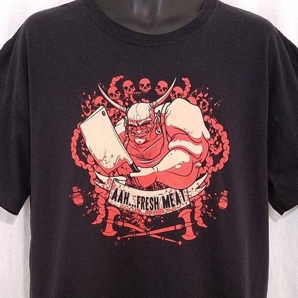Blizzard The Butcher T Shirt Diablo Fresh Meat Heroes Of The Storm Jinx Size XL