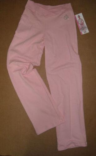 NWT BODYWRAPPERS v Front Pink Jazz Pants w//rhinestones cotton spandex PrincessA