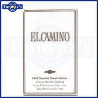1984 El Camino Owners Manual 84