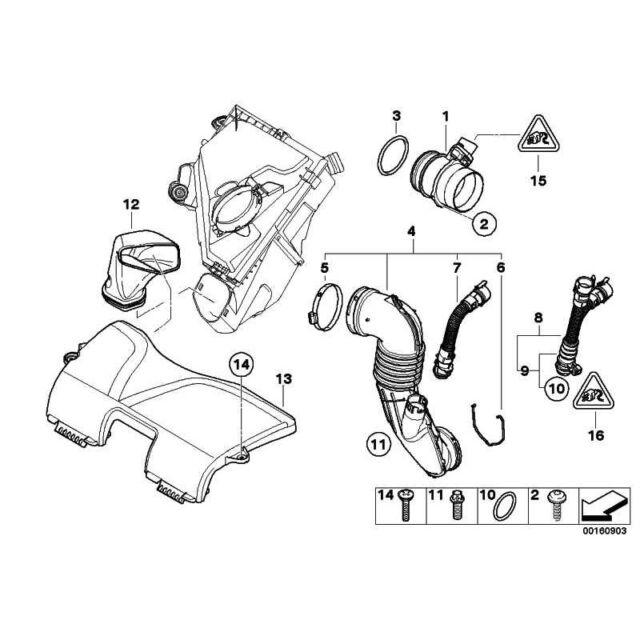 ORIGINALE BMW 13717803842-TUBO 1er 3er 5er 6er 7er x1 x3 x5 x6