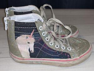 Vans Unicorn Hi Top Shoes Girls Size 12
