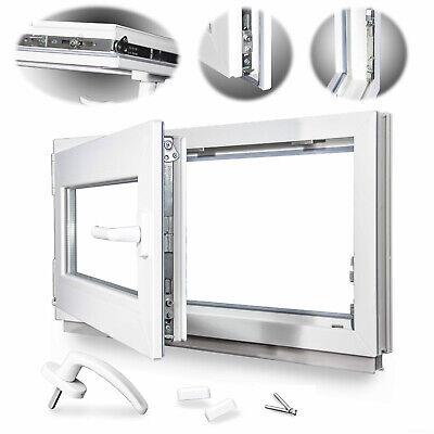 Kellerfenster 3 Fach BxH 105x45 cm /& 1050x450 mm Dreh-//Kipp DIN rechts Weiß