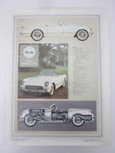 Details about Corvette New 25 x 19 White 1953 Corvette Tech Art Poster Thin  Glossy Paper