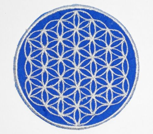 Nepalese Made 8.5cm Flower of Life Various Colours * Round Sew On Patch