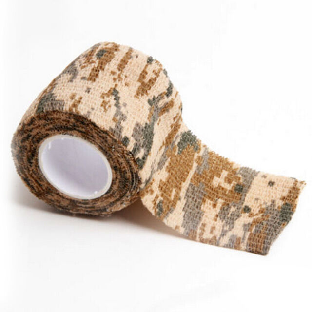 5x4.5m Kombat Stealth Tape Wrap Rifle Cool Shooting Army Camo Camouflage