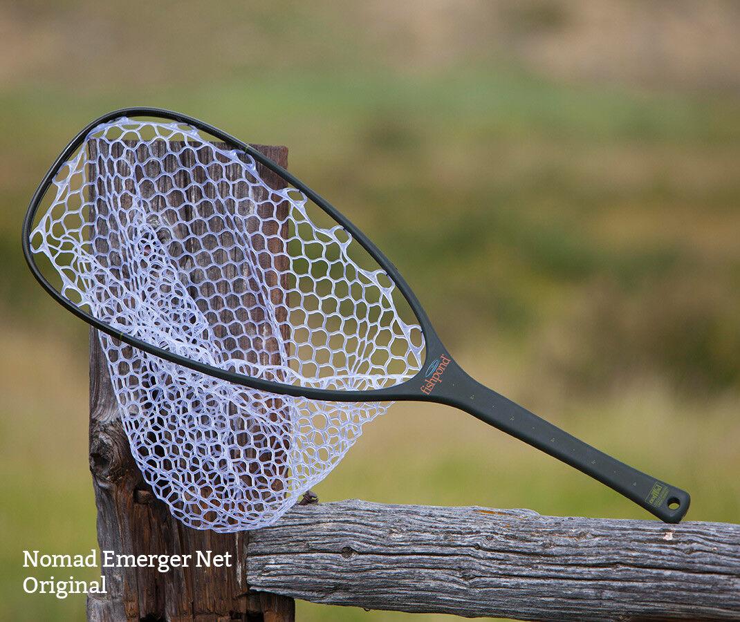 Fishpond Fly Fishing, Mesh Carbon Fiber / Fiberglass Nomad Emerger Net, Rubber Mesh Fishing, 941dd8
