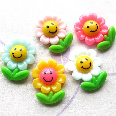 30pcs Sunflowers Resin Flatbacks Scrapbooking Lots Button Kid' Craft Mix B0385