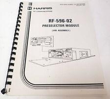 Harris Rf Communications Rf 596 02 Preselector Module A19 Assembly Manual