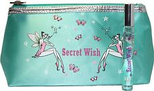 ANNA SUI SECRET WISH 0.3 OZ EDT ROLLERBALL WITH TRAVEL BAG BY ANNA SUI
