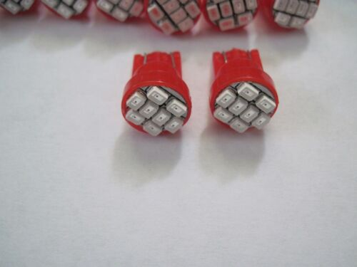 10x  T10 168 194  8SMD  Super Red LED High power SMD LED  Wholesale