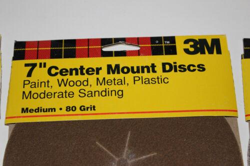 "4 Each Fine Medium Coarse 12 Discs 3 Packs 3M 7"" Center Mount Sanding Discs"