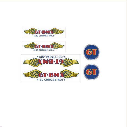 GT BMX 4130 Decal Set-Clair-Large Down Tube