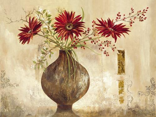 Anna Field  rouge Gerberas 60x80 Chassis-Image