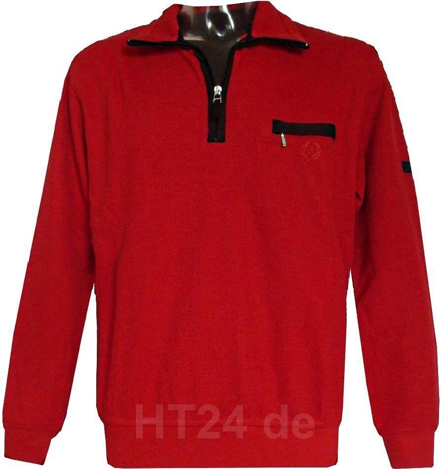 MonteCarlo SWEATSHIRT TROYER rot Gr. M   50 bis 7XL   66 Modell 6905 Übergröße