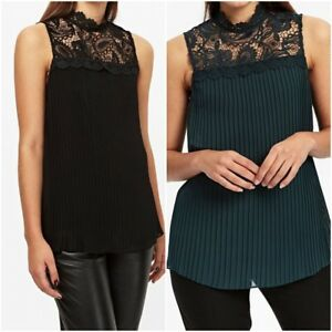 NEW-Ex-Wallis-Ladies-High-Neck-Pleated-Top-Xmas-Party-Top-Size-10-18