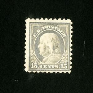 US-Stamps-437-F-VF-Disturbed-OG-Hinged-Catalog-Value-110-00