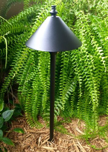 4 Pk Outdoor low voltage landscape garden halogen Path light ScorpiusBk aluminum