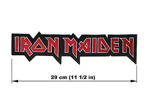 Image Is Loading IRON MAIDEN Logo BACK PATCH Embroidered NEW Heavy